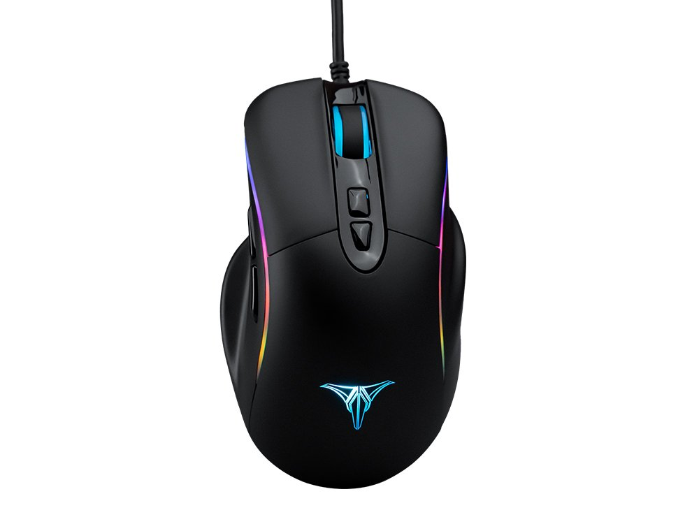 ZD Talentech Ember Plus [10,000 DPI] Ergonomic USB Wired RGB Gaming Mouse Mice PC/Laptop(Windows 10/8/7/XP), Linux, 7 Programmable Buttons, PMW3325 Sensor, MMO/MOBA/FPS - [Black]