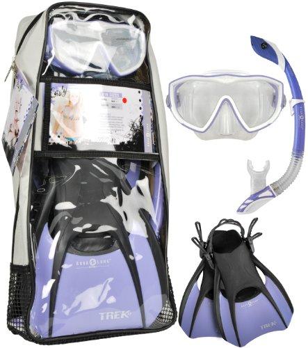 Aqua Lung Sport Diva 1 LX Mask Fin Snorkel Set, Purple - Small