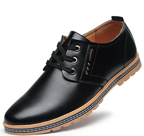 WLFHM Frühling/Sommer Herrenschuhe Ausschnitte Sandalen Jugend Business Casual Interne Erhöhung Herrenschuhe Blacksingleshoes