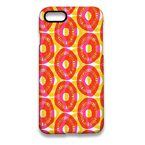 Circular Wallpaper 3D Print Customized Hard PC Case for iPhone 7 and iPhone 8 White