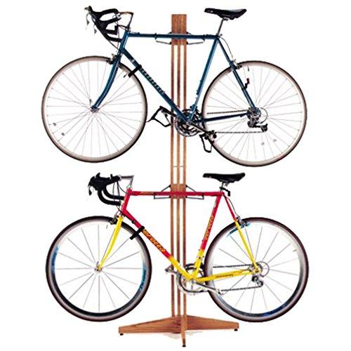 gearup OakRak Freestand Storage Rack, Golden Pecan (Bike Oak Rack)
