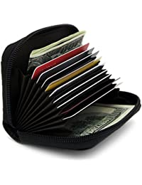 RFID Blocking Genuine Leather Credit Card Case Holder Security Travel Wallet