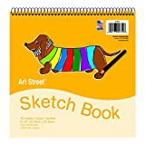 Pacon 4750 9'' X 9'' Padded Sketch Book 40 Sheets