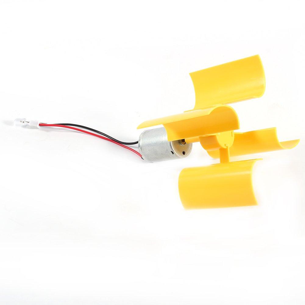 Aerogenerador - Kit de bricolaje, aerogeneradores verticales de motor pequeñ o, generador de electricidad Breeze de briznas aerogeneradores verticales de motor pequeño Dewin