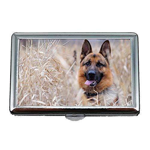 14 Cigarettes Box Storage Case,French Bulldog Holding German Shepherd Dog,Business Cards - Cigarette German