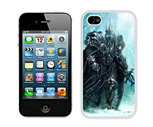 World Of Warcraft Lich King Sword Cold Snow Chain White Best Buy Customized Design iPhone 4S Case