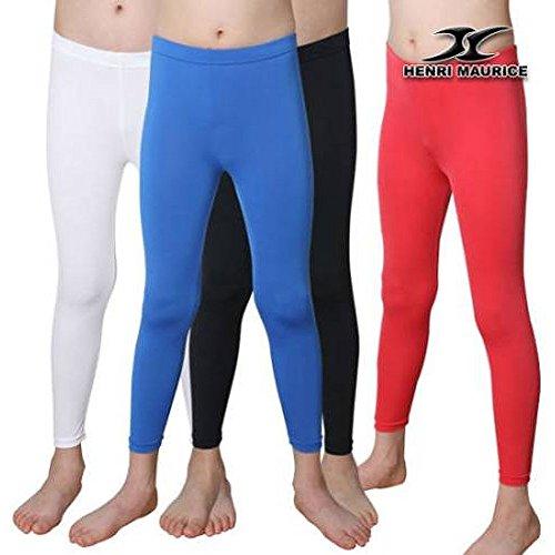 Kids junior SKIN tight Compression Under Base Layer sports Armor Long pants PK – DiZiSports Store
