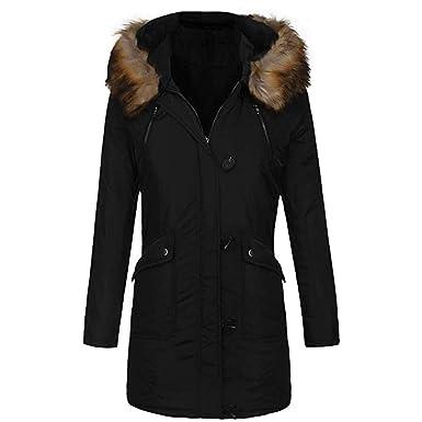 TianWlio Jacken Damen Mit Kapuze Warme Winter Gefütterte