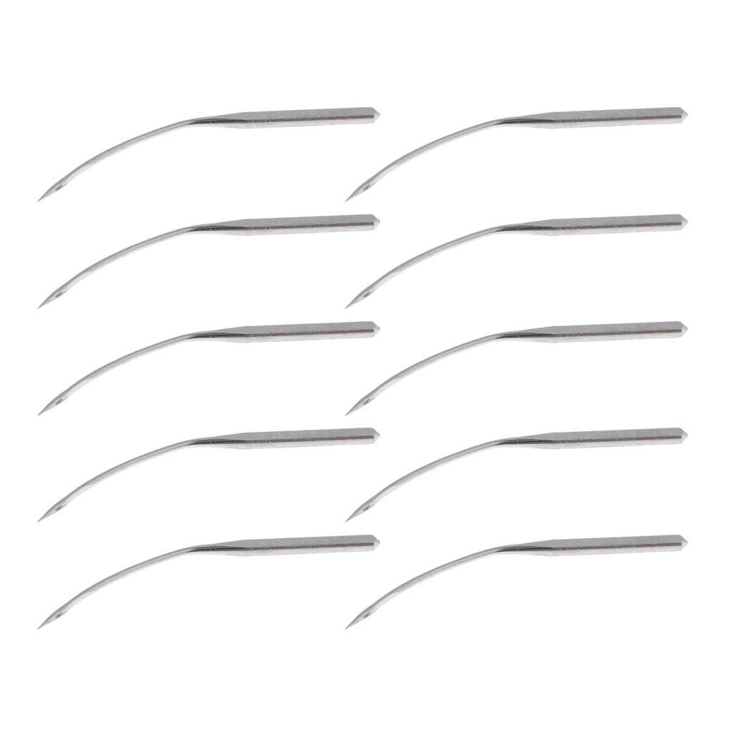 Bonarty 200Pcs Aghi per Macchine da Cucire Industriali Curvi Blind Stitch LWx6T