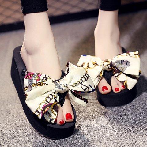 al libre c cool flops zapatillas soles tacón de playa de verano alto casual FLYRCX de Moda flip calzado aire ladies' wqWZOXH