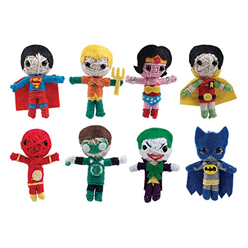 DC Comics String dolls Set of 8 ( Batman and Robin, SuperMan, The Flash, Wonder Woman, Green Lantern, The Joker, and more...)