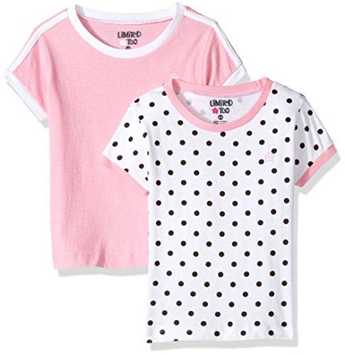 (Limited Too Girls' Little 2 Pack Short Sleeve Ringer Tee, KW24 Multi, 4)