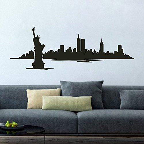 MoharWall Click Image to Open expanded View New York Statue of Liberty Wall Decals New York Skyline Cityscape Office Sticker Library Decor
