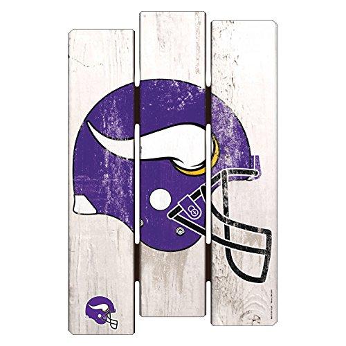 (NFL Minnesota Vikings Wood Fence Sign, 11