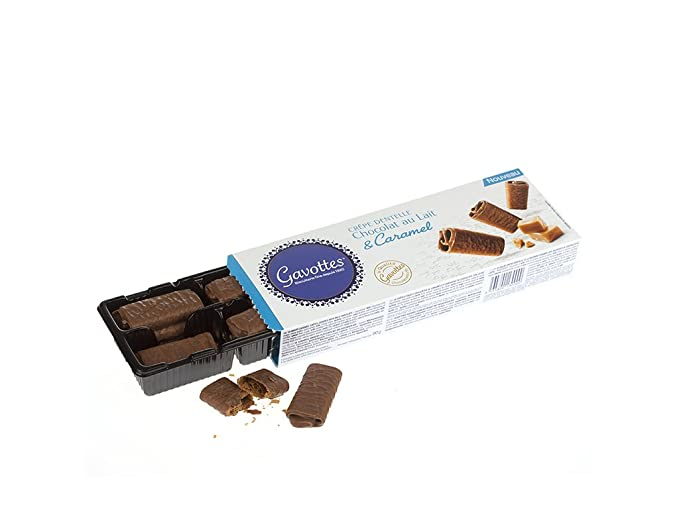 Gavottes - Barquillos con caramelo y chocolate con leche - 90 g