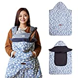 Bebenuvo Universal Hoodie All Season Carrier Cover for Baby Carrier Warmer / Bunting / Stroller Footmuff (5 Colors avalible) - Snow World