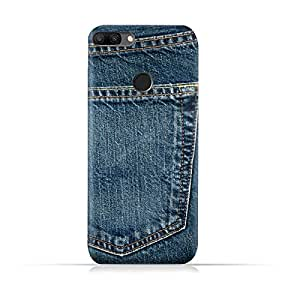 AMC Design Jeans Pocket Design Silicone Protective Case For Huawei Honor 9i - Blue