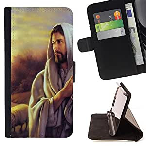 Super Marley Shop - Leather Foilo Wallet Cover Case with Magnetic Closure FOR Samsung Galaxy S3 III I9300 I9308 I737- My God OMG Jesus Christ Cross