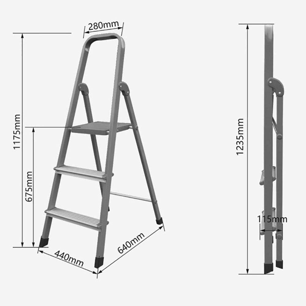 GYX Escalera en espiga, Aleación de aluminio Taburete de 3 escalones Silla plegable de cocina Reposapiés portátil, Escalera de tijera, Estante de almacenamiento, Soporte de flores: Amazon.es: Bricolaje y herramientas
