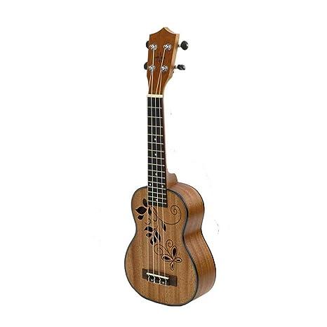 North King Guitarra acoustic27 Pulgadas Caoba Ukelele Hueco Agujero Sonido diseño Cuatro Cuerdas Piano Guitarra Instrumento