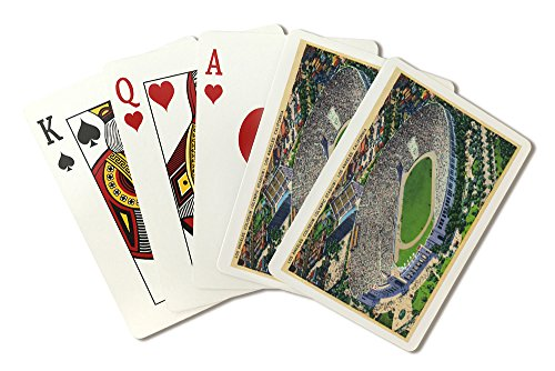 Los Angeles, California - Aerial View of the Coliseum (Playing Card Deck - 52 Card Poker Size with Jokers)