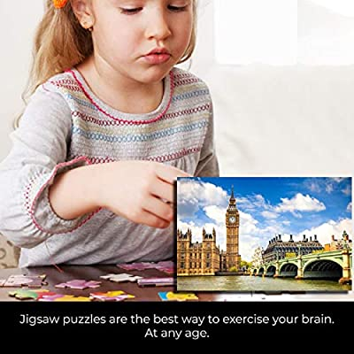 Tsmile Adults Puzzles 1000 Piece Large Puzzle Game Jigsaw Interesting Toys Personalized Gift The Opera House Big Ben: Toys & Games