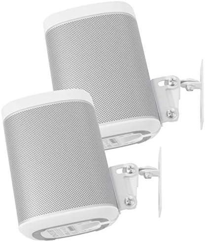 2 x SONOS Play1 muurbeugel dubbelpakket NIET compatibel met SONOS ONE verstelbaar draai en kantelmechanisme 2 beugels voor Play1 speaker met bevestigingsaccessoires wit