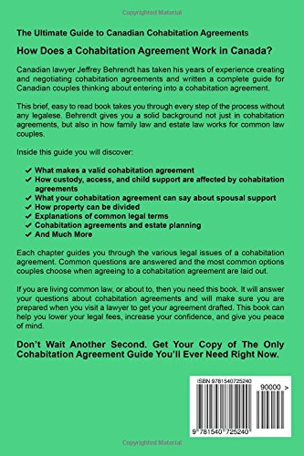 The only cohabitation agreement guide youll ever need a canadian the only cohabitation agreement guide youll ever need a canadian lawyer explains all jeffrey behrendt 9781540725240 amazon books platinumwayz