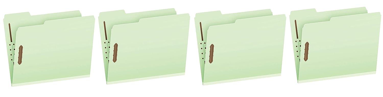 Pendaflex プレスボードファスナーフォルダー ファスナー2つ レターサイズ ライトグリーン 1インチ拡張 左/右/中央に1/3カット 1箱25個入り (17178EE) Fоur Расk B07PZYJFQY  Fоur Расk