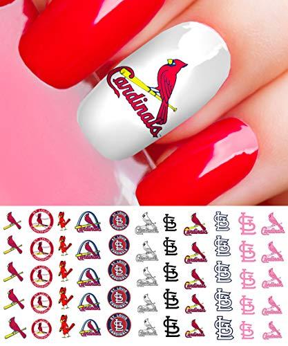 St Louis Cardinals Baseball Waterslide Nail Art Decals - Salon Quality (Cardinals Louis Natural)