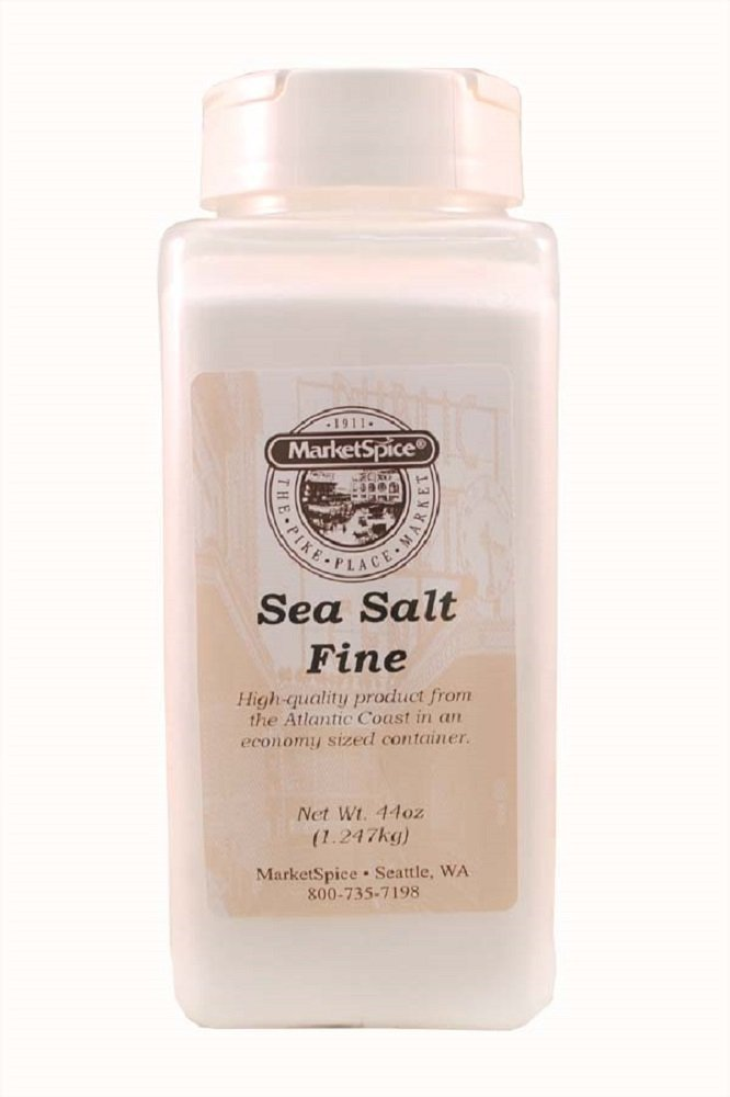 MarketSpice Fine Sea Salt Economy Jar, 44 oz