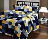 eCraftIndia Checked Print Reversible Poly Cotton AC Blanket (Single Bed)