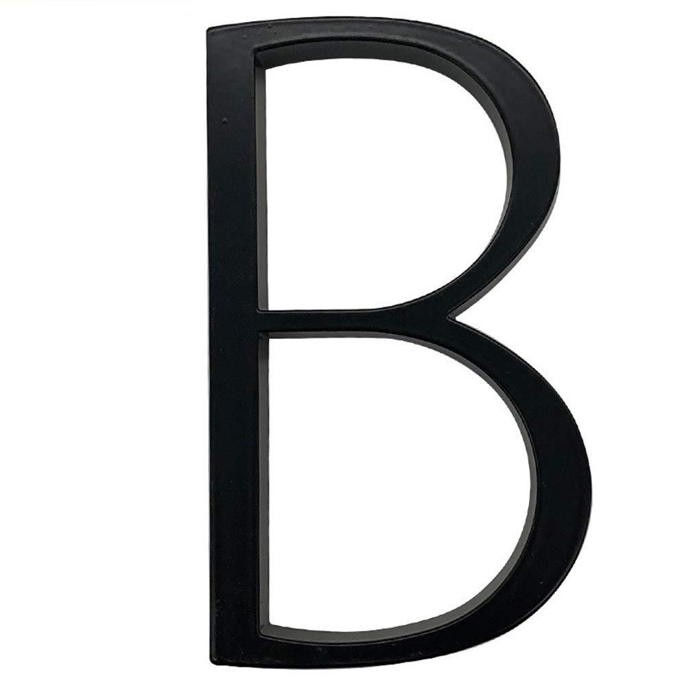 NL N/úmero de casa Placas 2 Letra A B C Nombre Placa de la Puerta Letras del Alfabeto Dash Raya Vertical Se/ñal 5 Inch.Zinc aleaci/ón Negro