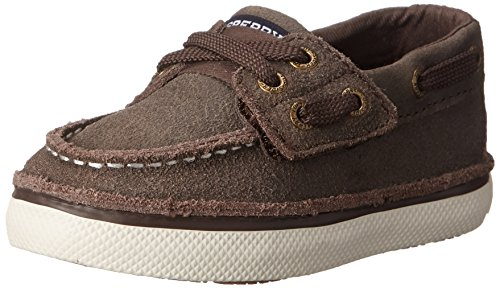 Sperry Cruz JR Boat Shoe (Toddler/Little Kid),Brown Leather,12 M US Little Kid