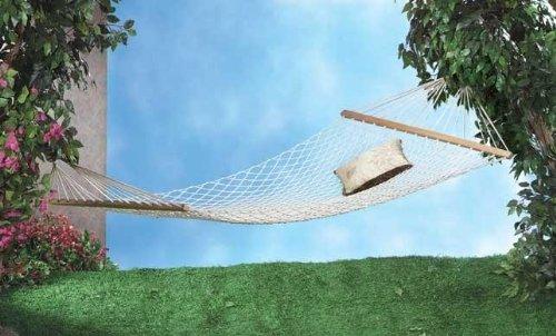 Double 2 Person Swing Hammock Beach Patio Garden Cotton Rope Bed