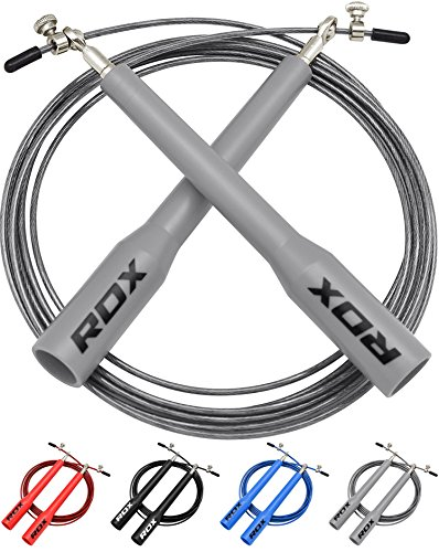 RDX Skipping Rope Adjustable Steel Gym Jump Speed Lose Weight Gymnastics Fitness MMA Boxing Crossfit Jumping Metal Cable Exercise Training Workout For Sale