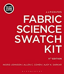 "J.J. Pizzuto's Fabric Science Swatch Kit, 11th Edition reinforces the study of textiles for students in fashion design, merchandising, interior design, product development and home furnishings. The kit contains 114 (2""x 3"") fabric samp..."