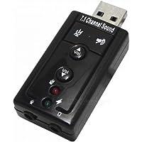 Adaptador Placa de Som Externa USB Virtual 7.1 Canais