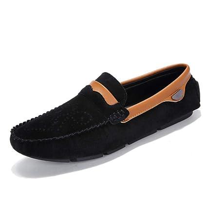 2018 Mocasines Zapatos para Hombre Mocasines Casual Drive Hombre Cuero Ligero Transpirable Grabado Floral Cubierta del