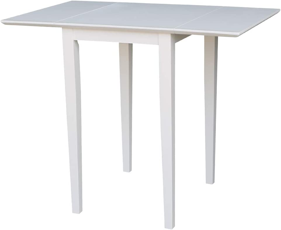 International Concepts Small Dropleaf Dining Table, White