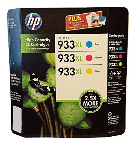 HP D8J65BN 3 Color capacity Cartridges