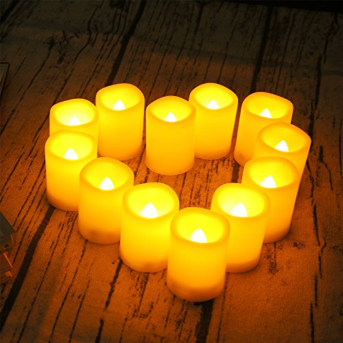 Outdoor Lighted Plastic Candles - 4