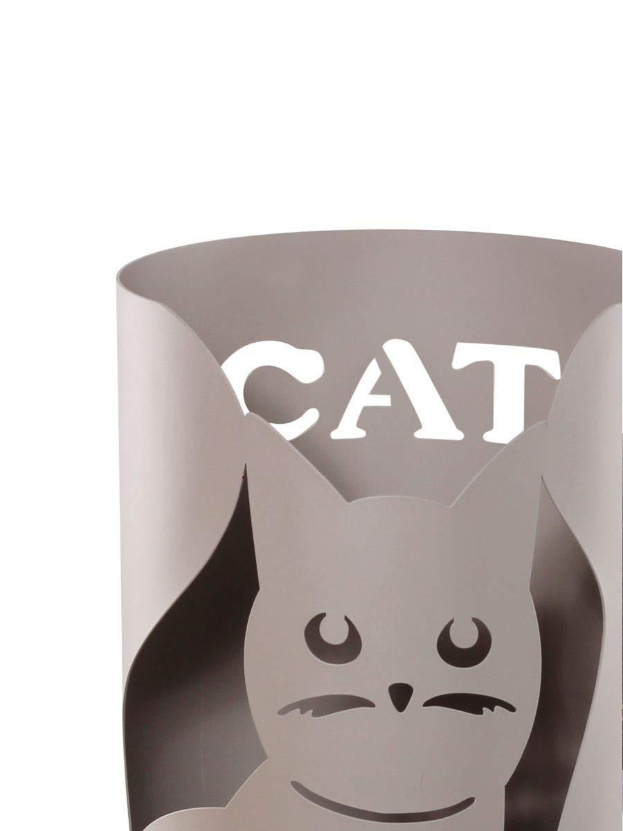 MONTEMAGGI Porta ombrelli cilindrico disegno gatto in metallo Variante unica