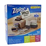 ziploc space saver vacuum bags - Ziploc Space Bag 14 Bag Variety - 14pc 4-M, 4-L, 3-XL Cubes, 3-Trvl