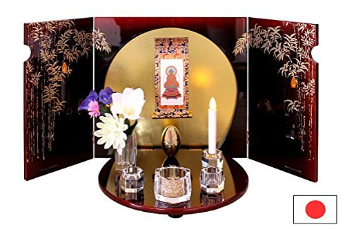 職人が作った小型仏壇 竹 日本製 仏壇 ミニ仏壇 小型仏壇 家具調 国産 オープン B01MR8YMK2