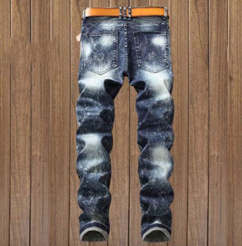 Jeans De Rectos Midi Algodón Hombres Pantalones De Vaqueros Los Sin Pretina Ropa Delgados Pantalones Los Vaqueros Elásticos Fit Dril del Denim Regular 7 De Pantalones vYZwIxOZqM