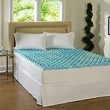 Simmons Beautyrest Comforpedic Loft from Beautyrest 3-inch Big Loft Gel Memory Foam Mattress Topper Blue Queen