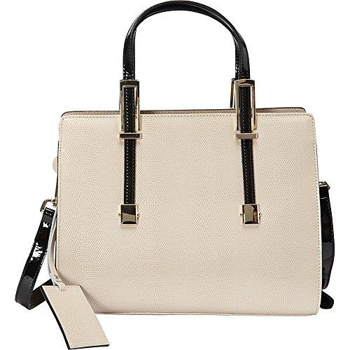 - Donna Bella Designs Chloe Leather Shoulder Bag, Beige