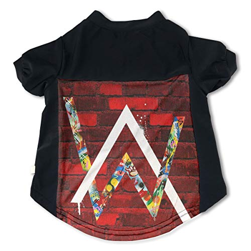 Trisharosew Alan Walker Music Band Pet T-Shirt Outdoor Dog Shirts M Gift
