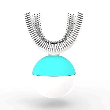 ZXT All Sonic Brushing Cepillo de dientes eléctrico en forma de U de 360
